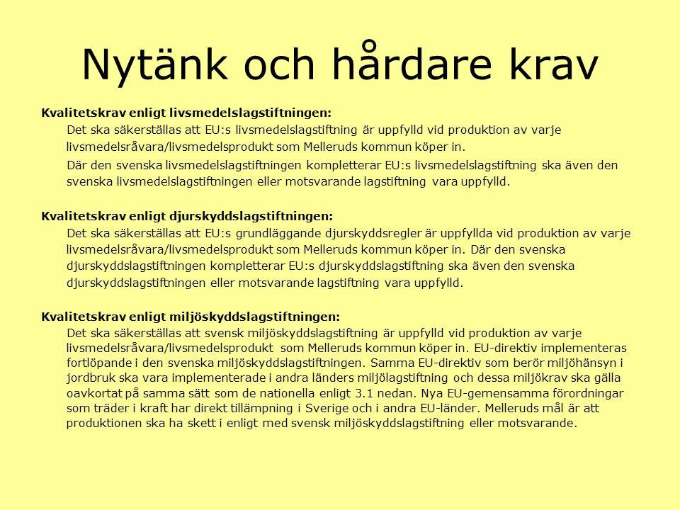 Diskussion Livsmedelspolicy Ekologiska livsmedel Närproducerade livsmedel Kvalité på råvaror Miljömål i Dalslandskommunerna och Säffle Hur ska vi arbeta i framtiden?