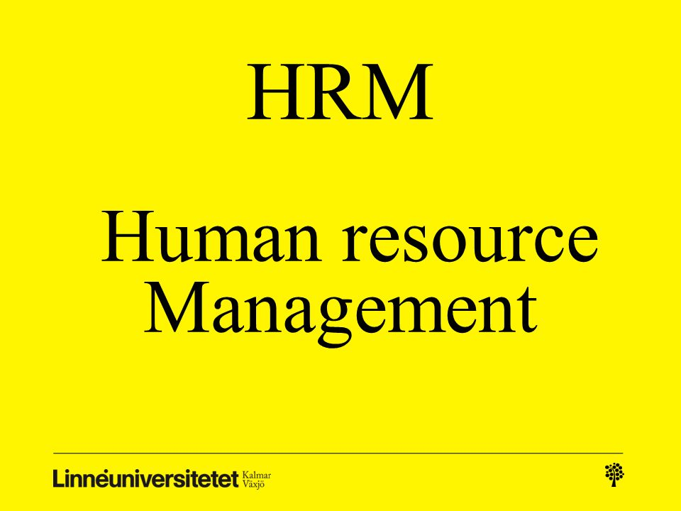 HRM Human resource Management