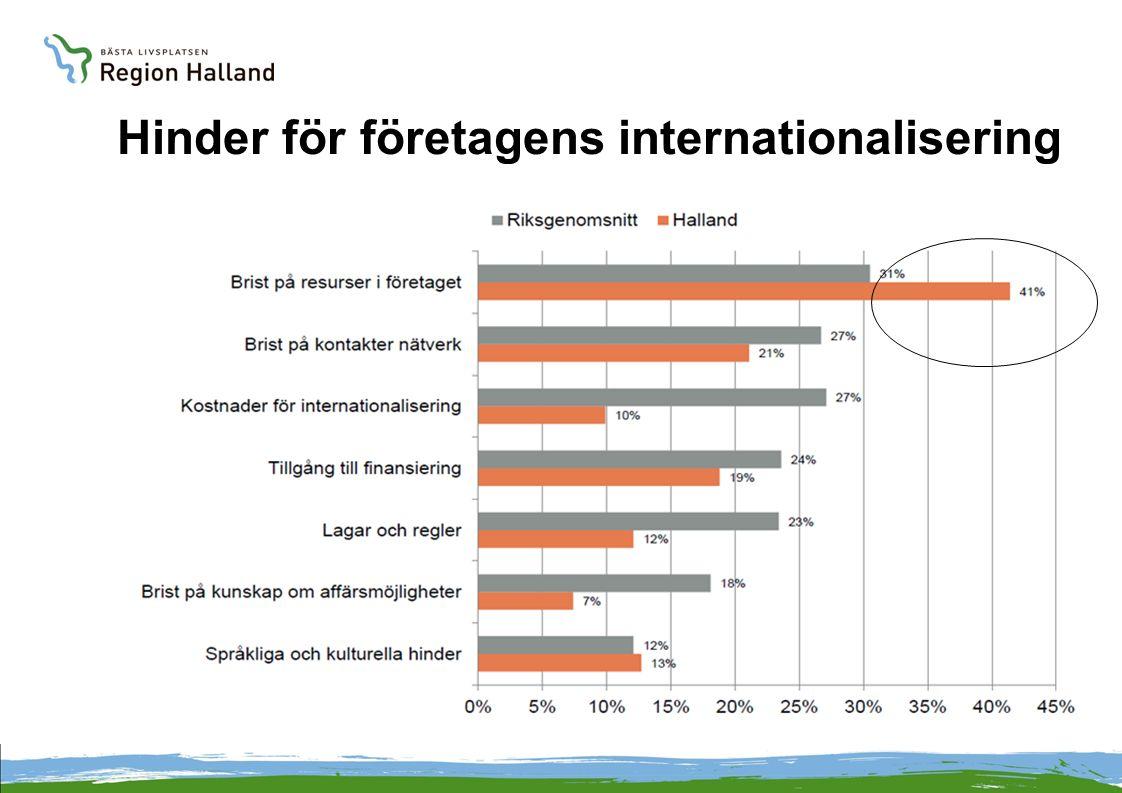 Hinder för företagens internationalisering