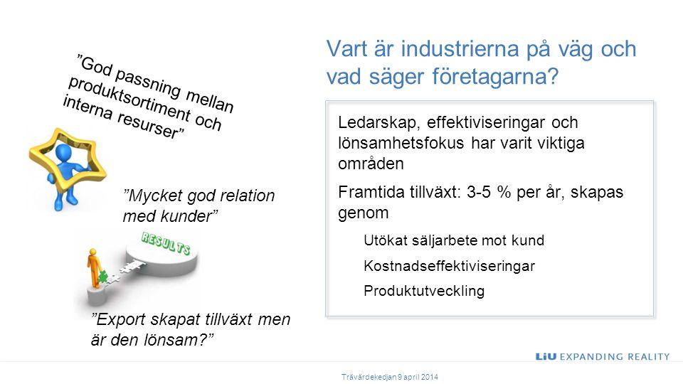 Vart är industrierna på väg och vad säger företagarna.