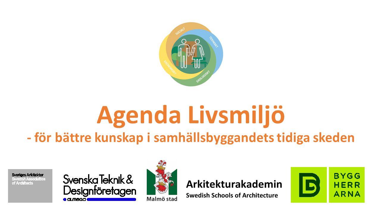 Agenda Livsmiljö - för bättre kunskap i samhällsbyggandets tidiga skeden Den statliga forskningspolitiken måste omfatta en satsning på boende och hållbar livsmiljö.
