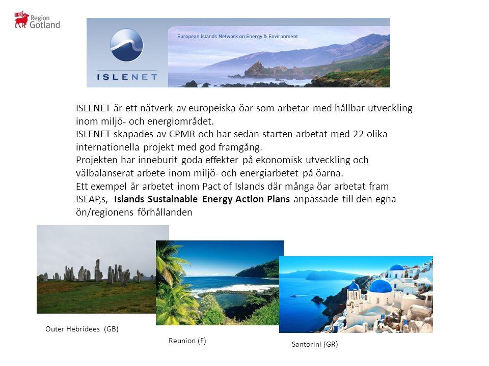 ISLENET är ett nätverk av europeiska öar som arbetar med hållbar utveckling inom miljö- och energiområdet.