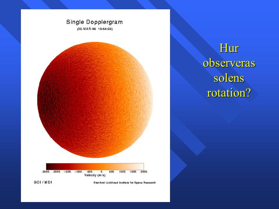 Hur observeras solens rotation