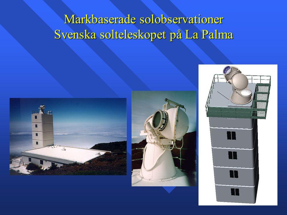 Markbaserade solobservationer Svenska solteleskopet på La Palma
