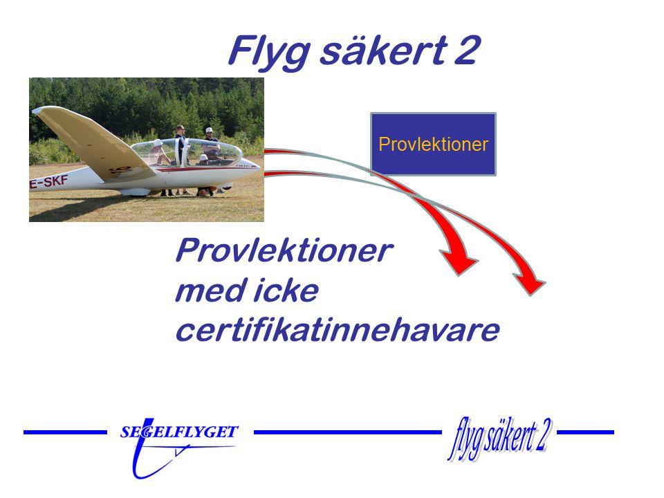 Genomförande Provlektioner skall genomföras i godkänt DK- segelflygflygplan eller TMG med segelflyglärare/instruktör, steg 2- eller steg 3-tränare.