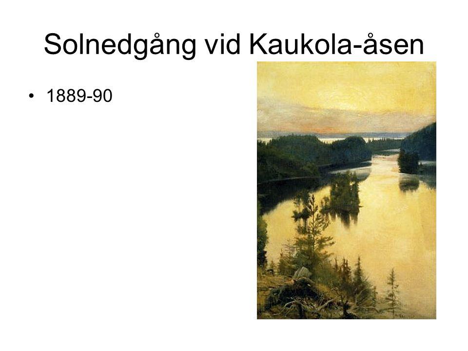 Solnedgång vid Kaukola-åsen 1889-90