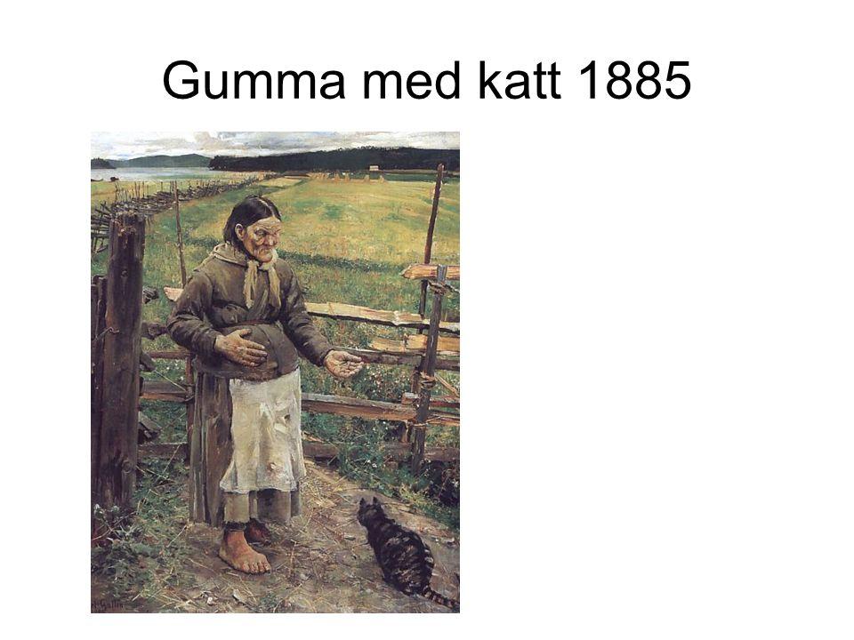 Gumma med katt 1885