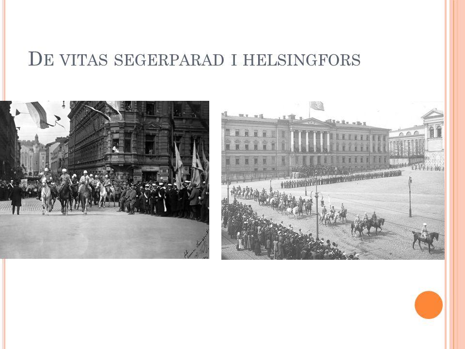 D E VITAS SEGERPARAD I HELSINGFORS