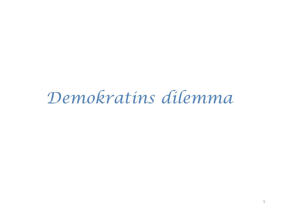 Vad får jag för att jag lever i en demokrati? 32