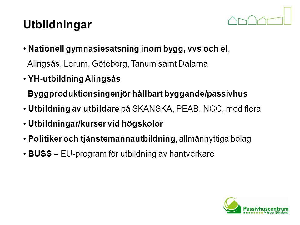 Utbildningar Nationell gymnasiesatsning inom bygg, vvs och el, Alingsås, Lerum, Göteborg, Tanum samt Dalarna YH-utbildning Alingsås Byggproduktionsing