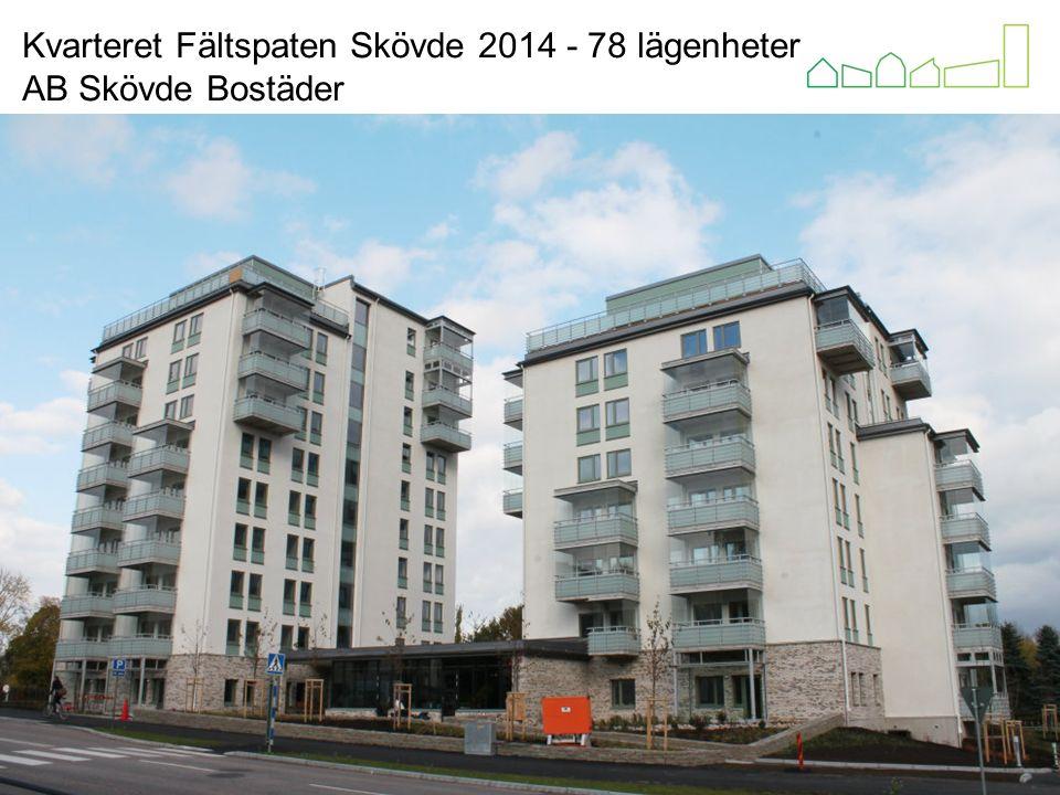 Kvarteret Ljuset Alingsås 2013 Alingsåshem HSB Kvarteret Fältspaten Skövde 2014 - 78 lägenheter AB Skövde Bostäder