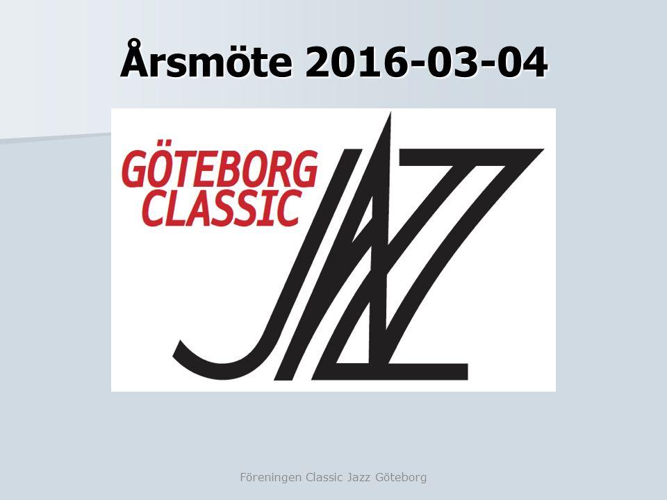 Dagordning årsmöte Föreningen Classic Jazz Göteborg 1.