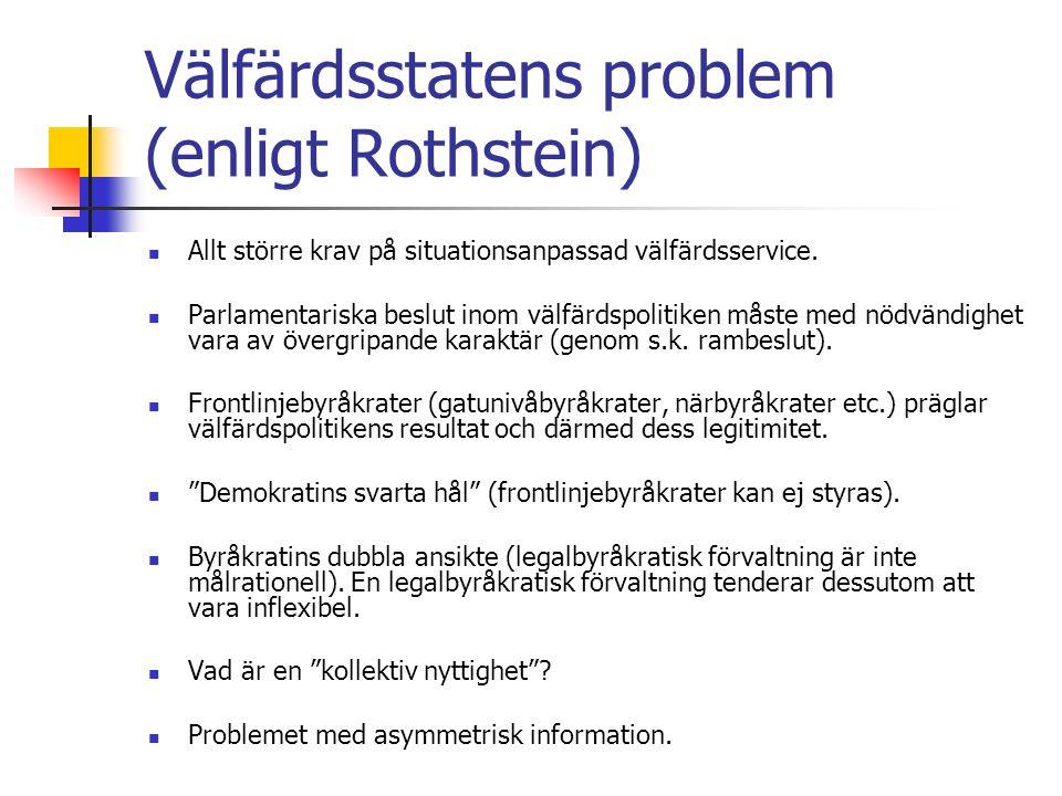 TVÅ GRANSKNINGSDOKTRINER Carl Friedrich (amerikan) Betonar inre kontroll ( inner check ), dvs.
