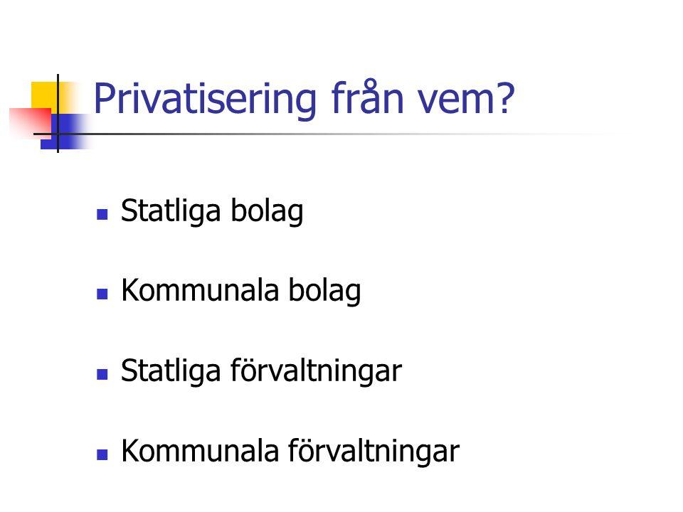 Privatisering till vem.Är privatisering det samma som marknadsorientering.