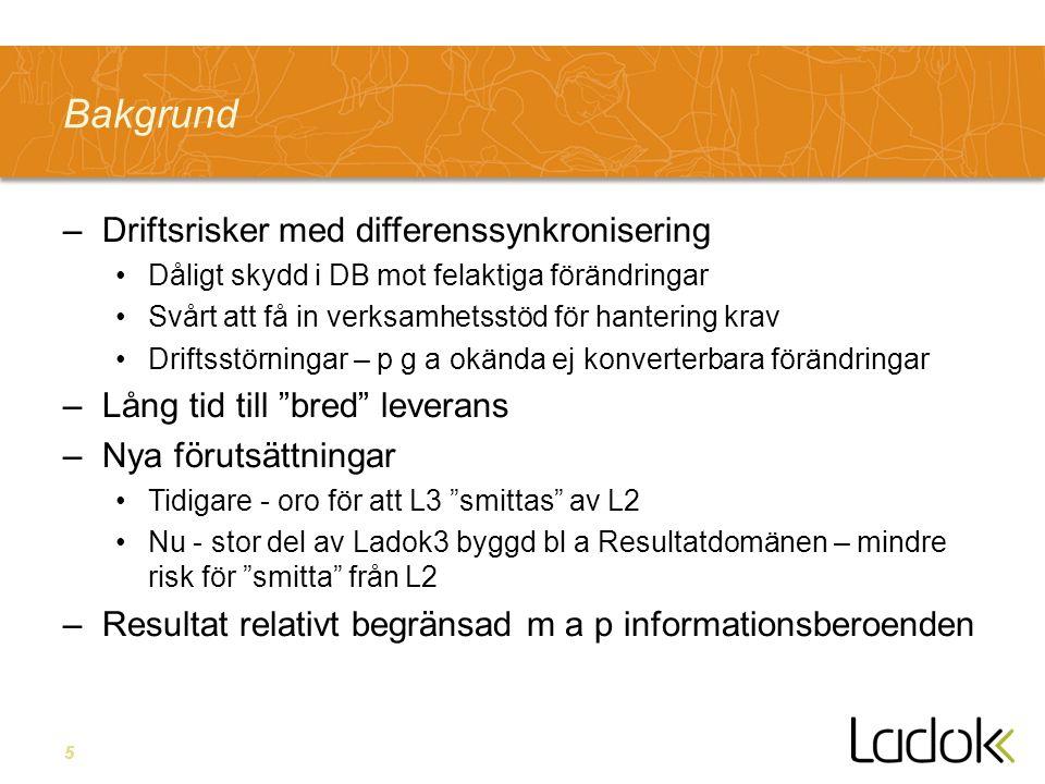 6 Lärosäte Lokal Anpassning Lokal Anpassning Ladok3 Ladok Kärna Uppföljning Ladok3 översikt Utbildningsinf Studiedelt.