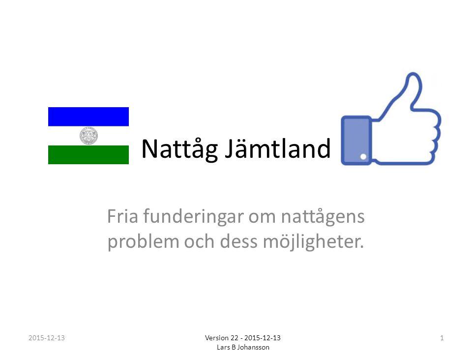 Nattåg Jämtland Fria funderingar om nattågens problem och dess möjligheter.