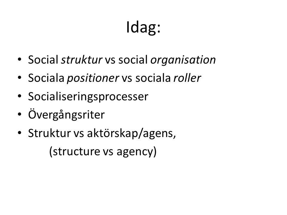 Meningsskapande och socialisering….
