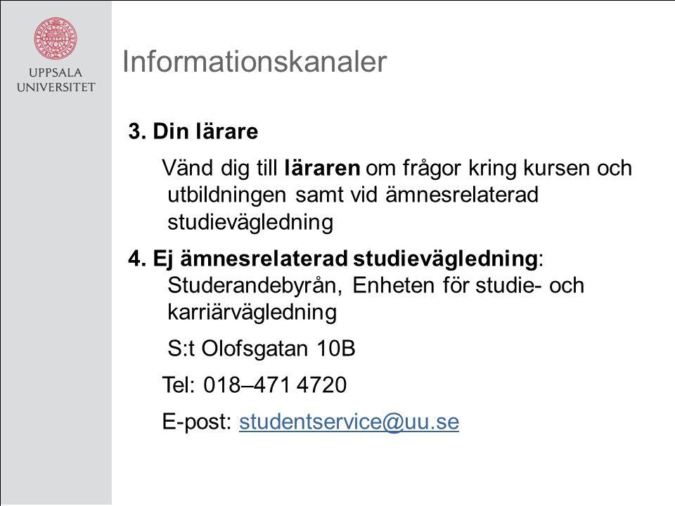 Informationskanaler 3.