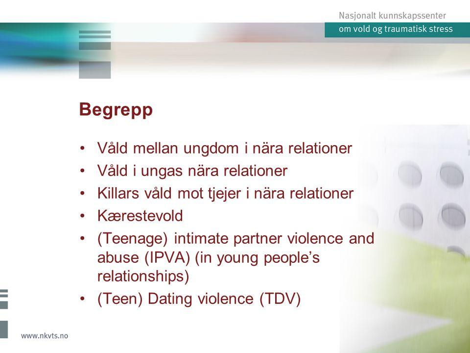 Konklusioner Våld mellan ungdom i nära relationer är ett fenomen som vi sedan tidigare har lite kunskap om.