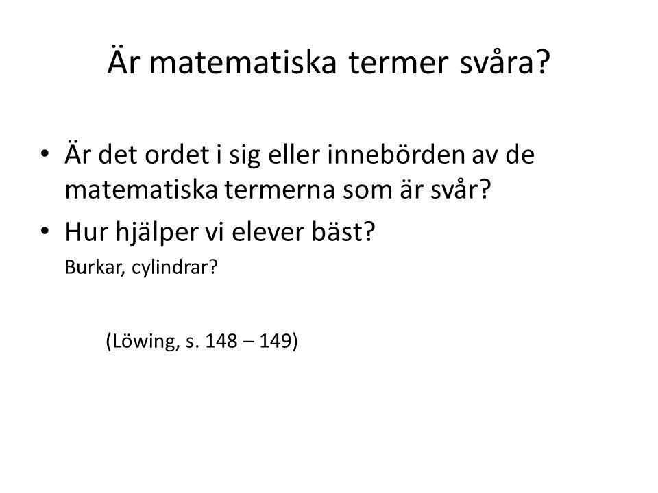 Är matematiska termer svåra.