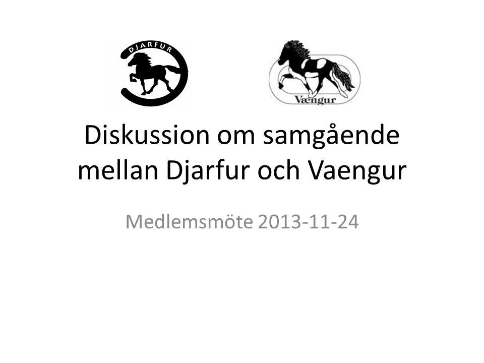 Diskussion om samgående mellan Djarfur och Vaengur Medlemsmöte 2013-11-24