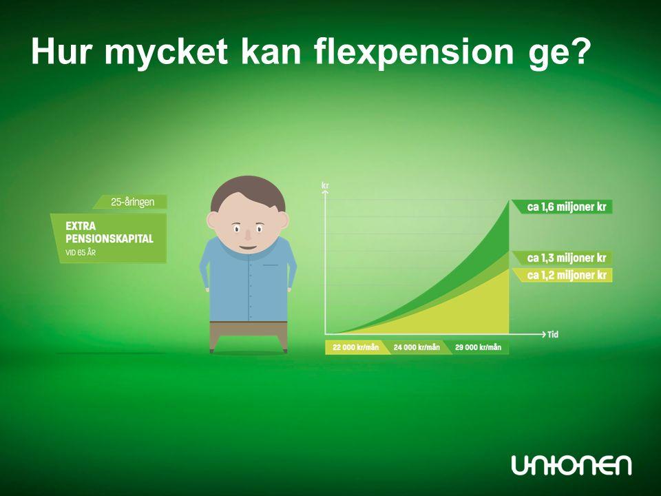 Hur mycket kan flexpension ge?