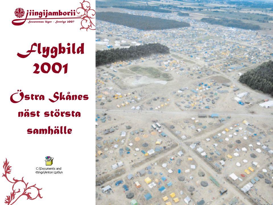 Flygbild 2001 Östra Skånes näst största samhälle