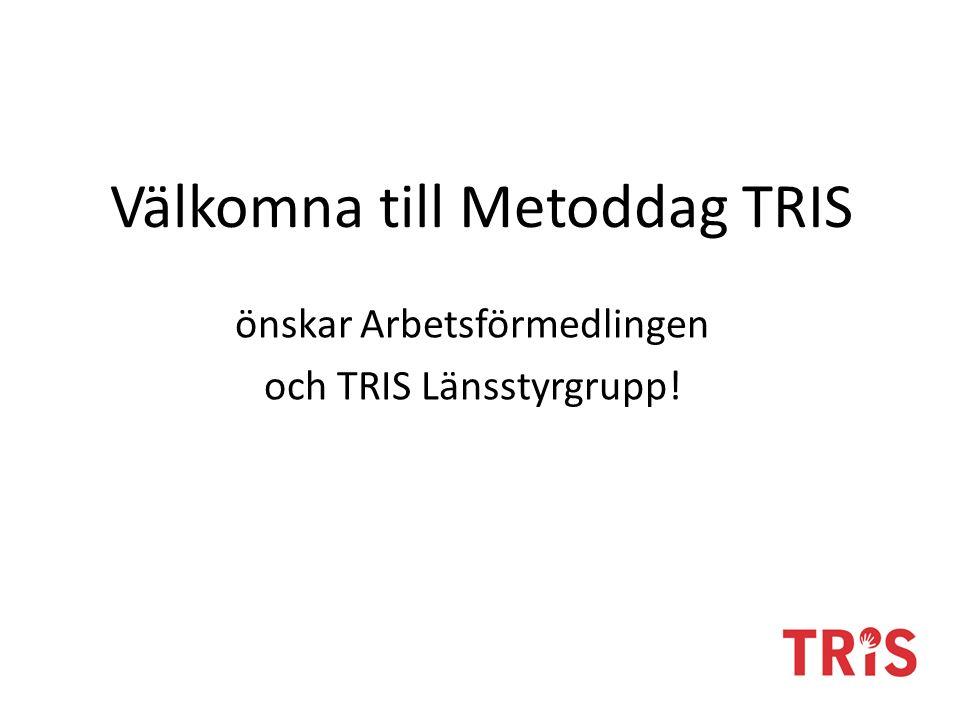 Välkomna till Metoddag TRIS önskar Arbetsförmedlingen och TRIS Länsstyrgrupp!