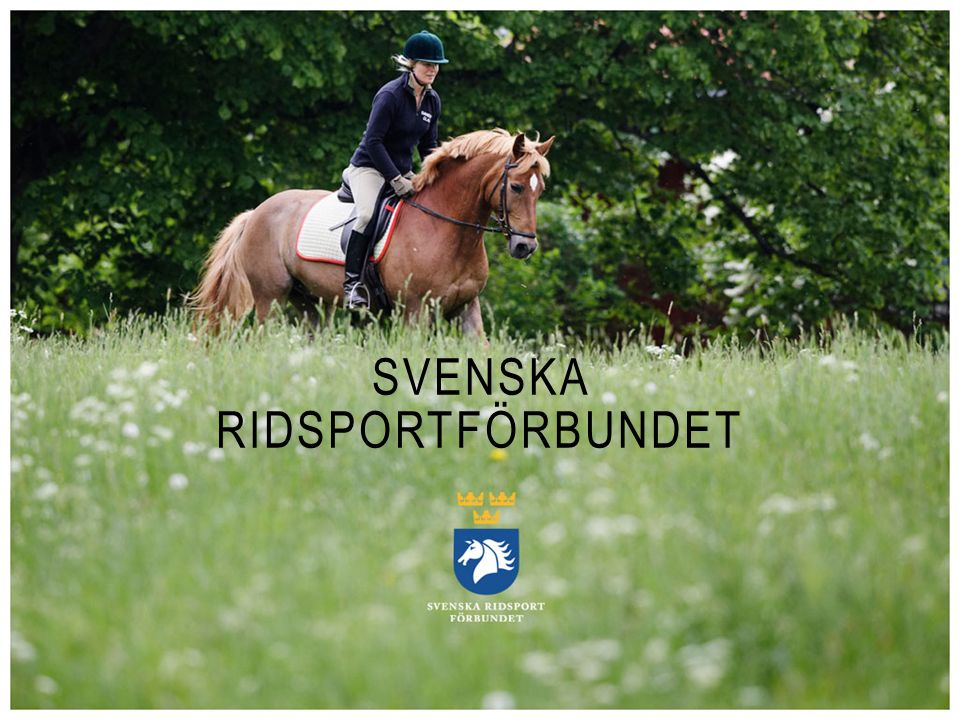 SVENSKA RIDSPORTFÖRBUNDET