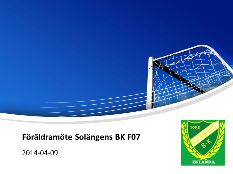 Föräldramöte Solängens BK F07 2014-04-09