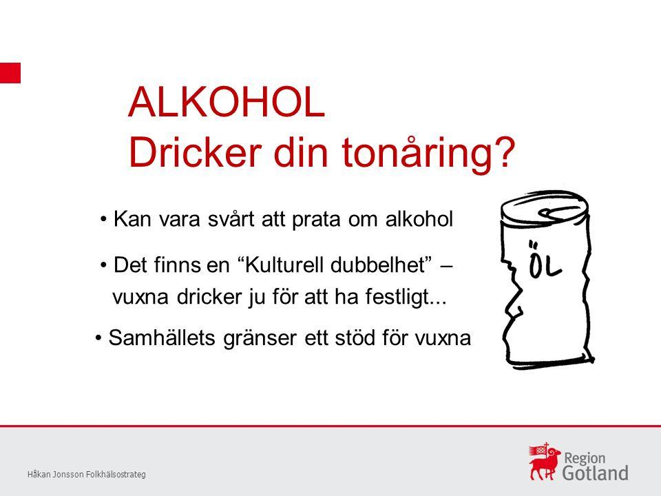 ALKOHOL Dricker din tonåring.