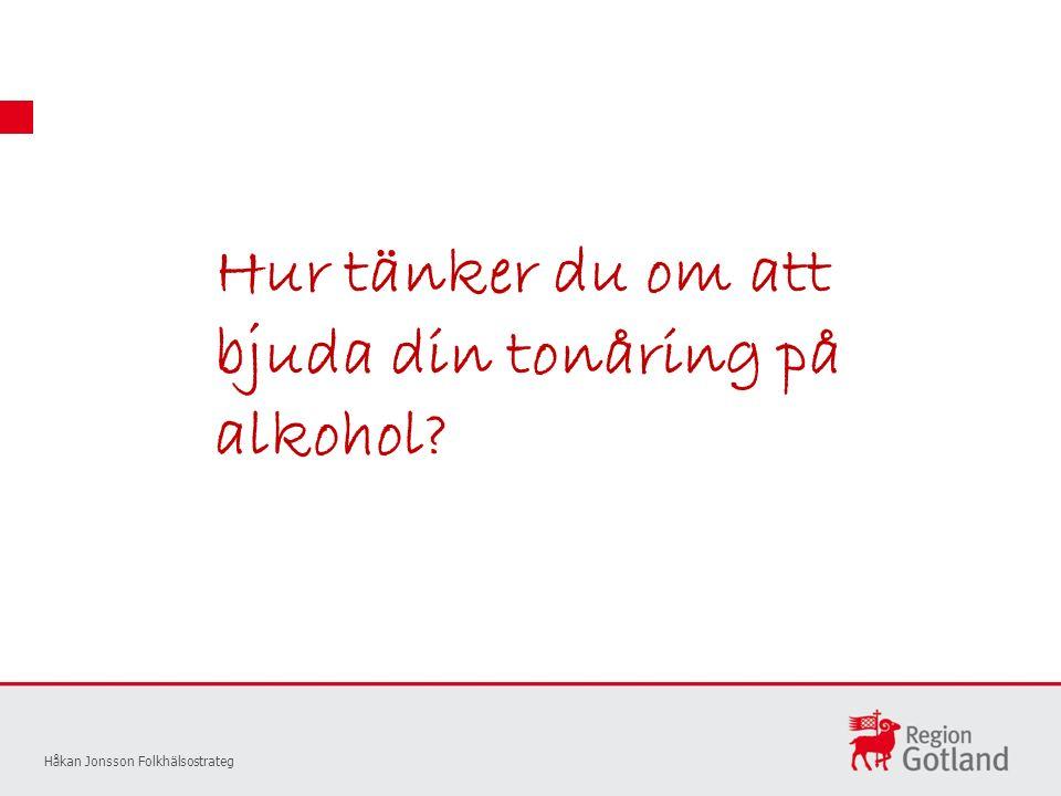 Hur tänker du om att bjuda din tonåring på alkohol Håkan Jonsson Folkhälsostrateg