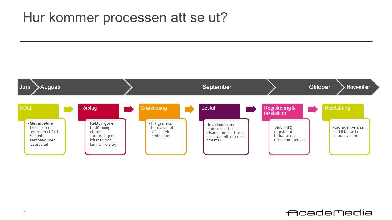 7 Hur kommer processen att se ut.