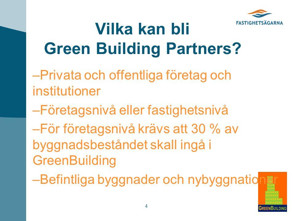 4 Vilka kan bli Green Building Partners.