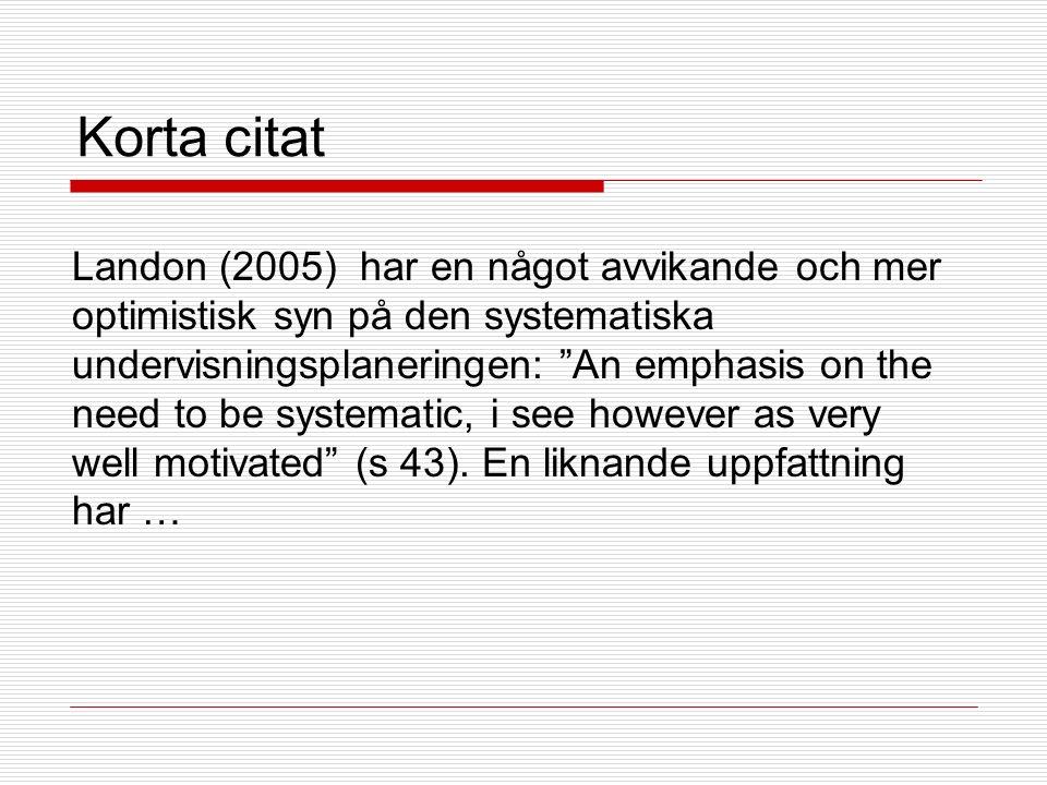 Uppsatskontroll genom Urkund  Hur man använder andras texter i det egna resonemanget beskrivs i Refero: Antiplagieringsguiden: http://www.ub.gu.se/ref/Refero/tutorial/present ation.php  Och APA-systemet exemplifieras i: http://www.utbildning.gu.se/digitalAssets/1366 /1366320_apa-lathunden-2012.pdf