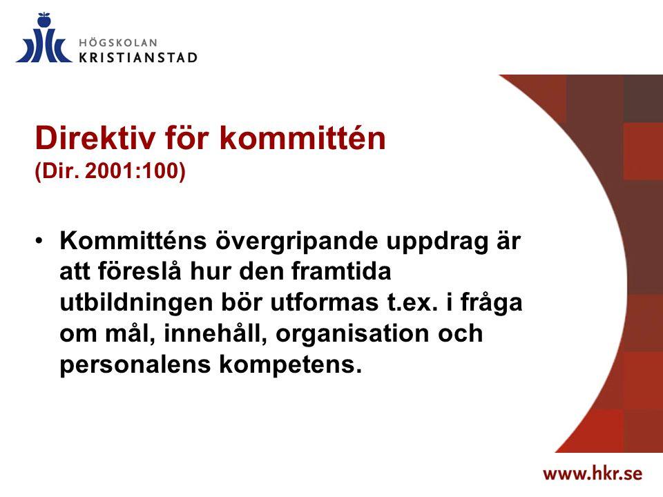 Direktiv för kommittén (Dir.