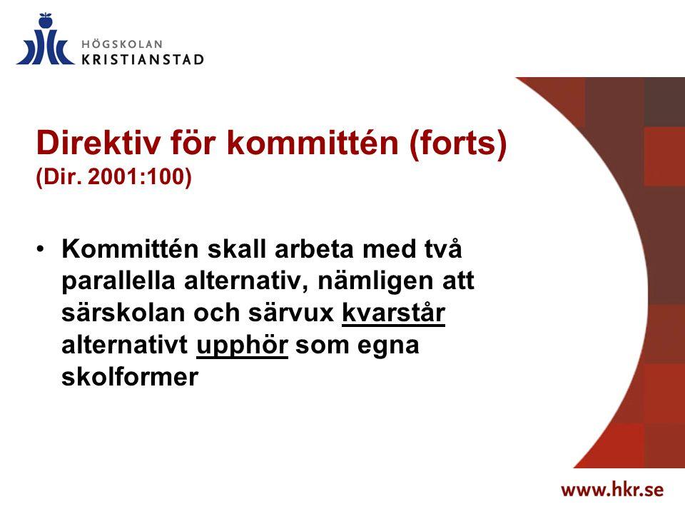 Direktiv för kommittén (forts) (Dir.