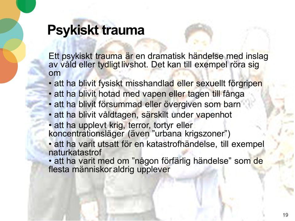 19 Psykiskt trauma