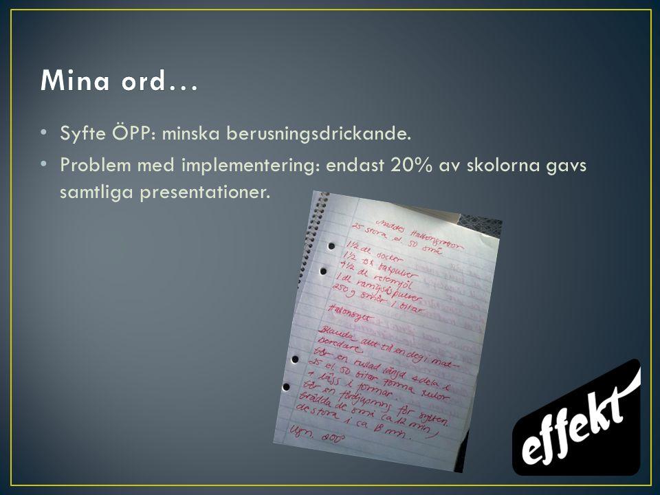En direkt reaktion på Bodin & Strandbergs (2011) artikel Does the Örebro Prevention Programme Prevent Youth Drinking.