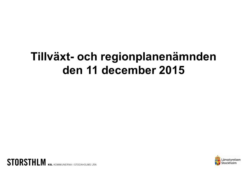 Tillväxt- och regionplanenämnden den 11 december 2015
