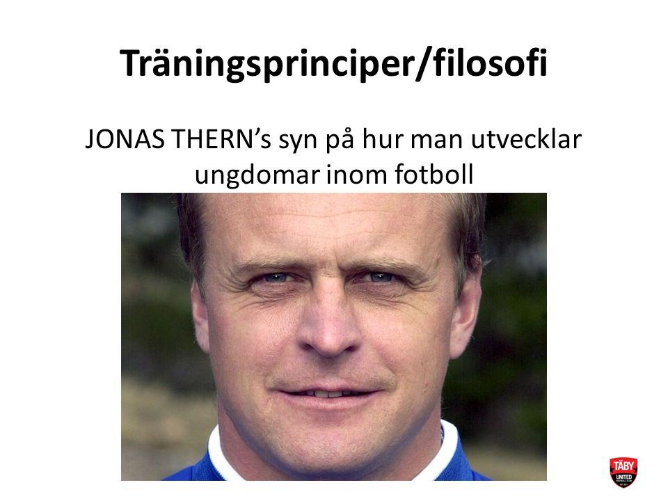 Träningsprinciper/filosofi JONAS THERN's syn på hur man utvecklar ungdomar inom fotboll