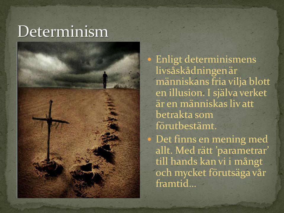 Enligt determinismens livsåskådningen är människans fria vilja blott en illusion.