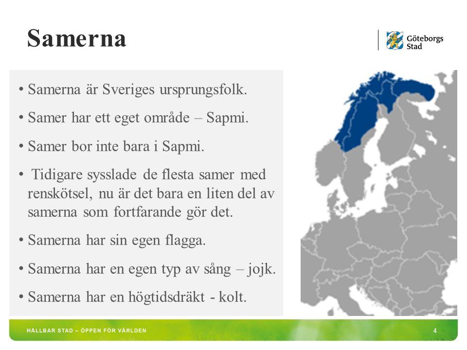 Samerna är Sveriges ursprungsfolk. Samer har ett eget område – Sapmi.