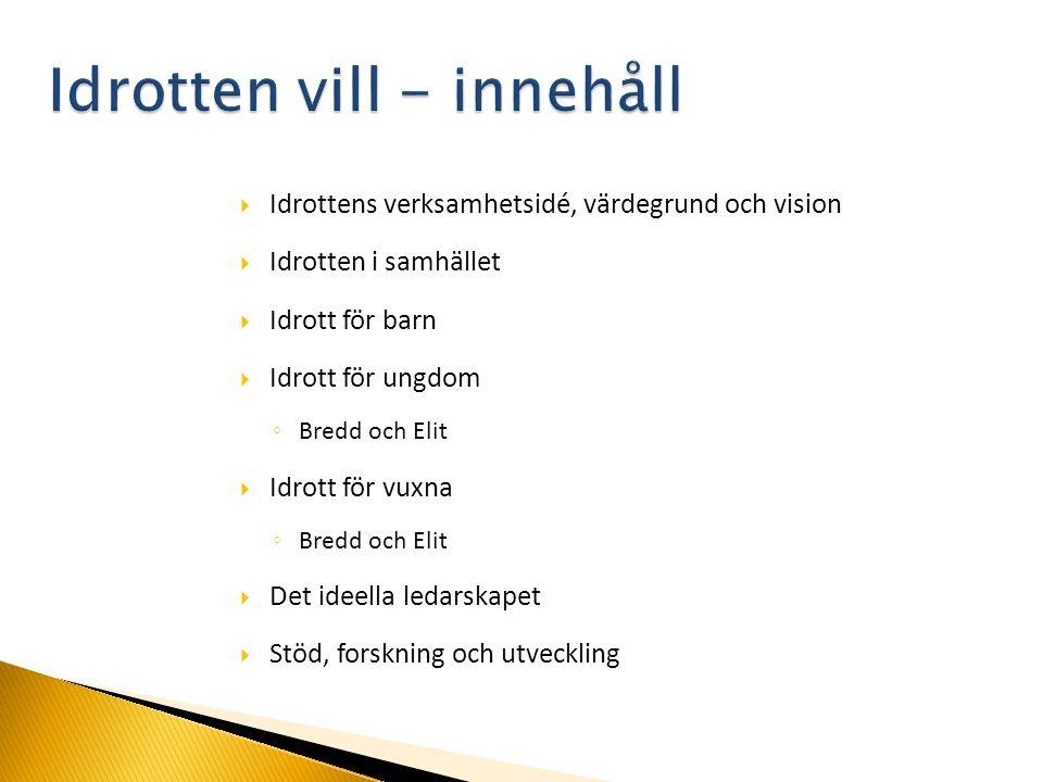 Flertalet kommittéer är inblandade i arbetet med Nollvisionen.