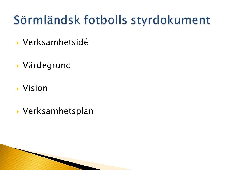 Södermanlands Fotbollförbund, stiftat den 25 mars 1917, i dessa stadgar kallat SöFF, har till uppgift att främja och administrera fotbollidrotten i distriktet.