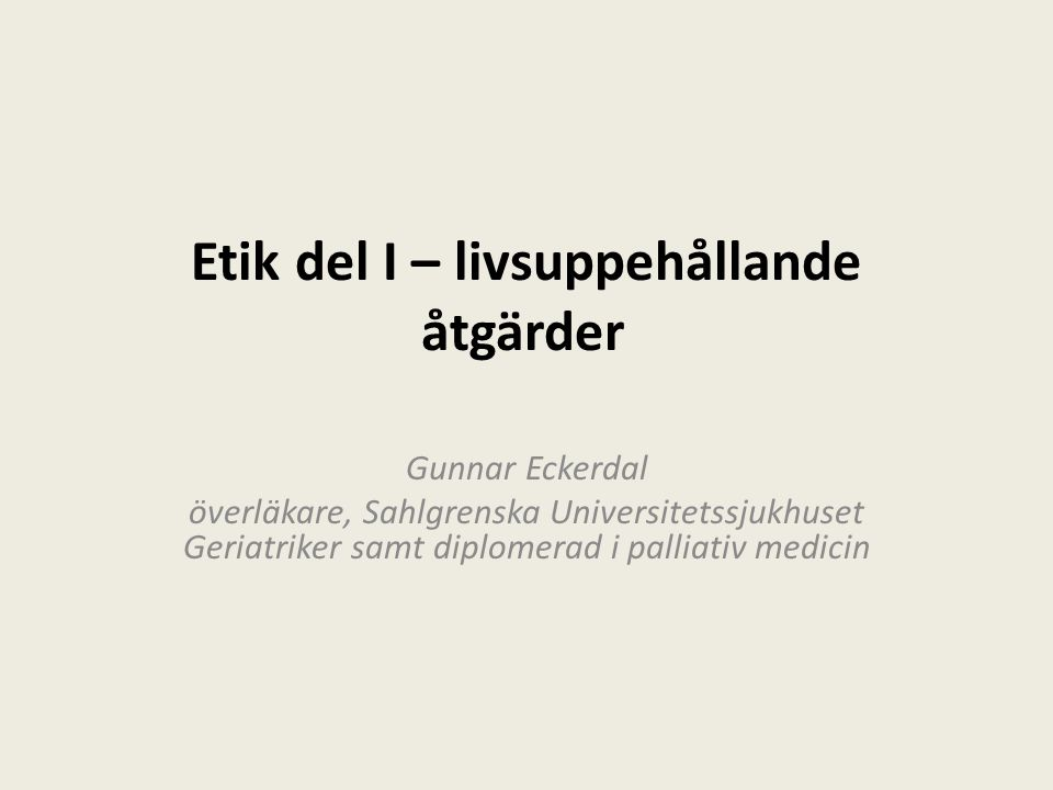 Etik enligt Gunnar Kompetens Ordning Kärlek