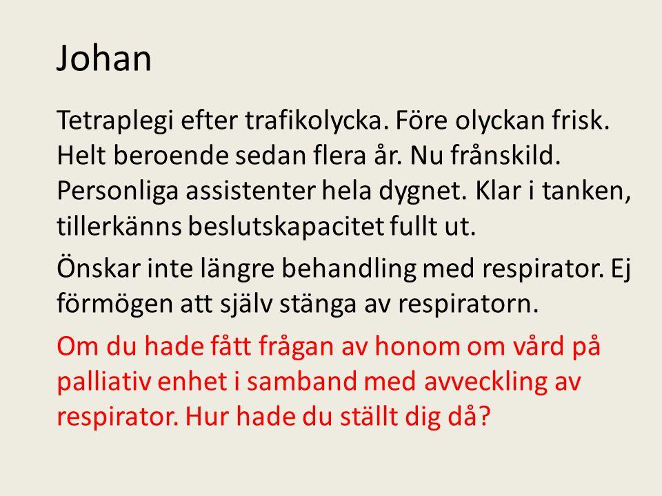 Johan Tetraplegi efter trafikolycka. Före olyckan frisk.