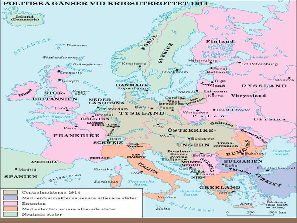 Orsaker till kriget I Europa rådde en maktkamp.
