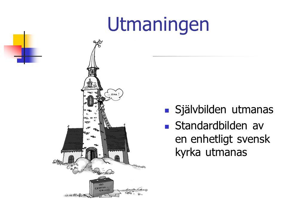 Utmaningen Självbilden utmanas Standardbilden av en enhetligt svensk kyrka utmanas