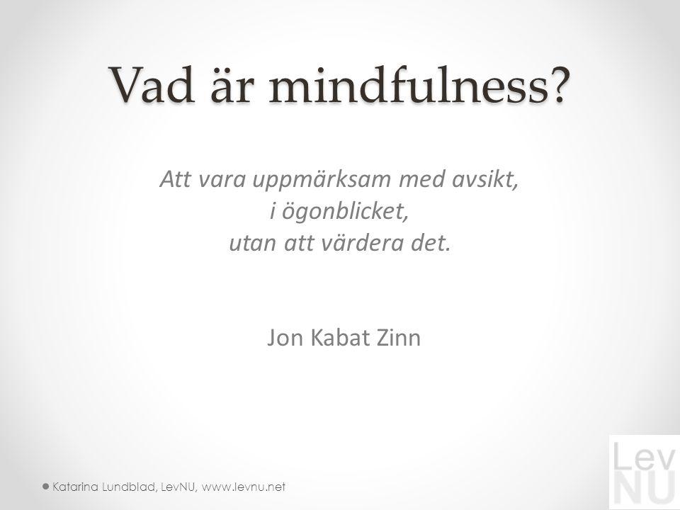 Vad är mindfulness.Att vara uppmärksam med avsikt, i ögonblicket, utan att värdera det.